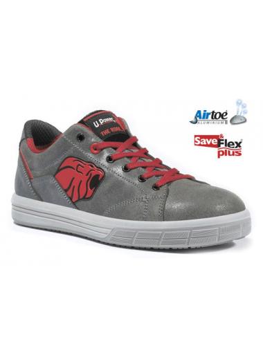 Baskets de sécurité rouge cuir S3