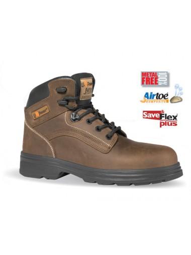 Chaussures de Sécurité Montantes Marron S3